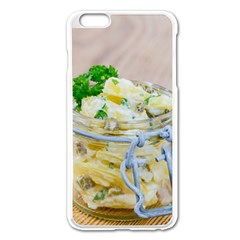 Potato salad in a jar on wooden Apple iPhone 6 Plus/6S Plus Enamel White Case