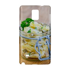Potato Salad In A Jar On Wooden Samsung Galaxy Note 4 Hardshell Case by wsfcow