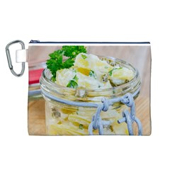 Potato Salad In A Jar On Wooden Canvas Cosmetic Bag (l) by wsfcow