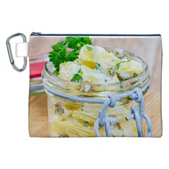 Potato Salad In A Jar On Wooden Canvas Cosmetic Bag (xxl) by wsfcow