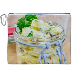 Potato Salad In A Jar On Wooden Canvas Cosmetic Bag (xxxl) by wsfcow