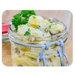 Potato Salad In A Jar On Wooden Double Sided Flano Blanket (medium)  by wsfcow