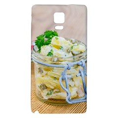 Potato salad in a jar on wooden Galaxy Note 4 Back Case