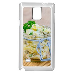 Potato salad in a jar on wooden Samsung Galaxy Note 4 Case (White)