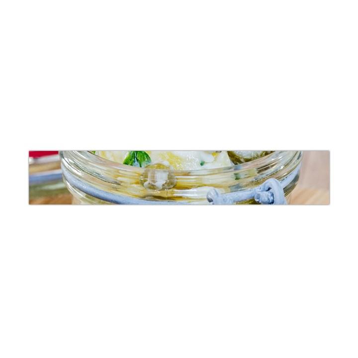 Potato salad in a jar on wooden Flano Scarf (Mini)