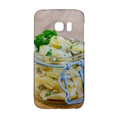 Potato Salad In A Jar On Wooden Galaxy S6 Edge by wsfcow