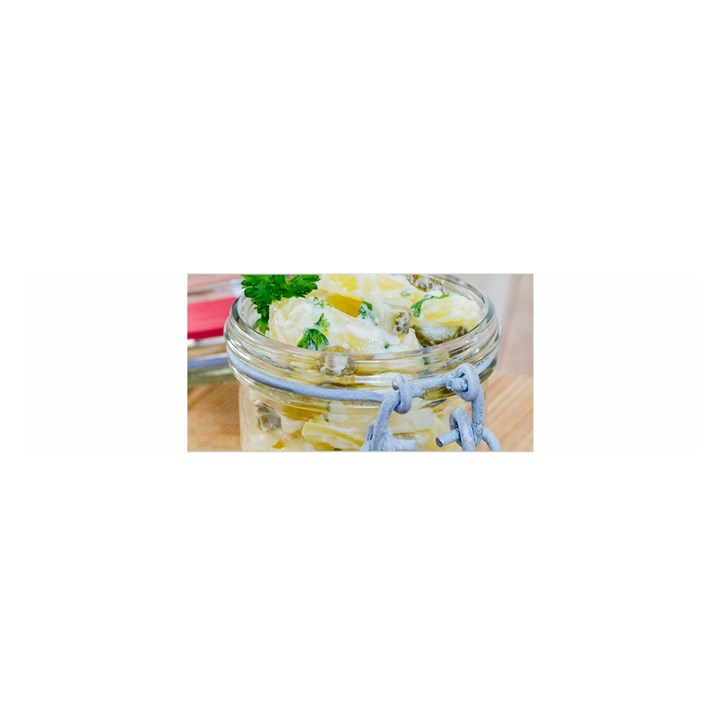 Potato salad in a jar on wooden Satin Scarf (Oblong)