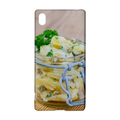 Potato Salad In A Jar On Wooden Sony Xperia Z3+ by wsfcow