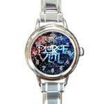 Pierce The Veil Quote Galaxy Nebula Round Italian Charm Watch