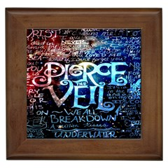 Pierce The Veil Quote Galaxy Nebula Framed Tiles by Onesevenart