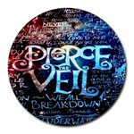 Pierce The Veil Quote Galaxy Nebula Round Mousepads