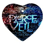 Pierce The Veil Quote Galaxy Nebula Ornament (Heart)