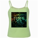 Pierce The Veil Quote Galaxy Nebula Green Spaghetti Tank