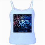 Pierce The Veil Quote Galaxy Nebula Baby Blue Spaghetti Tank