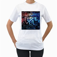 Pierce The Veil Quote Galaxy Nebula Women s T Shirt (white) (two Sided) by Onesevenart