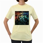 Pierce The Veil Quote Galaxy Nebula Women s Yellow T-Shirt