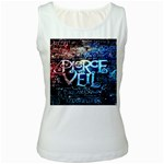 Pierce The Veil Quote Galaxy Nebula Women s White Tank Top