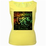Pierce The Veil Quote Galaxy Nebula Women s Yellow Tank Top