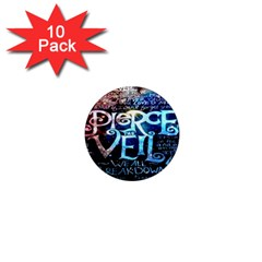Pierce The Veil Quote Galaxy Nebula 1  Mini Magnet (10 Pack)  by Onesevenart