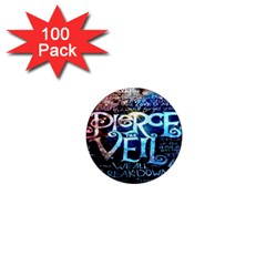 Pierce The Veil Quote Galaxy Nebula 1  Mini Magnets (100 Pack)  by Onesevenart