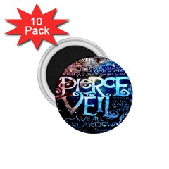 Pierce The Veil Quote Galaxy Nebula 1 75  Magnets (10 Pack)  by Onesevenart
