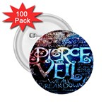 Pierce The Veil Quote Galaxy Nebula 2.25  Buttons (100 pack)