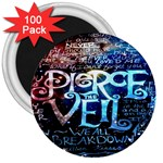 Pierce The Veil Quote Galaxy Nebula 3  Magnets (100 pack)