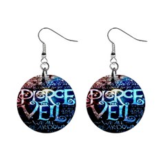Pierce The Veil Quote Galaxy Nebula Mini Button Earrings by Onesevenart