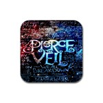 Pierce The Veil Quote Galaxy Nebula Rubber Square Coaster (4 pack)