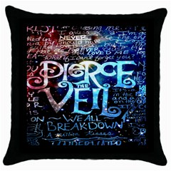 Pierce The Veil Quote Galaxy Nebula Throw Pillow Case (black) by Onesevenart