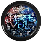 Pierce The Veil Quote Galaxy Nebula Wall Clocks (Black)
