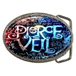 Pierce The Veil Quote Galaxy Nebula Belt Buckles