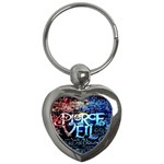 Pierce The Veil Quote Galaxy Nebula Key Chains (Heart)