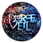 Pierce The Veil Quote Galaxy Nebula Magnet 5  (Round)