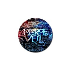 Pierce The Veil Quote Galaxy Nebula Golf Ball Marker (10 Pack) by Onesevenart