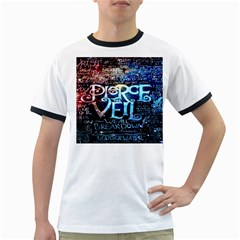 Pierce The Veil Quote Galaxy Nebula Ringer T Shirts by Onesevenart