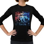 Pierce The Veil Quote Galaxy Nebula Women s Long Sleeve Dark T-Shirts
