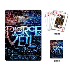 Pierce The Veil Quote Galaxy Nebula Playing Card by Onesevenart