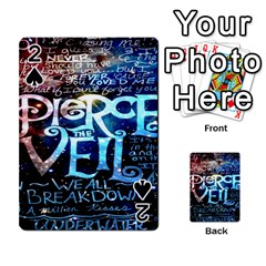 Pierce The Veil Quote Galaxy Nebula Playing Cards 54 Designs  by Onesevenart