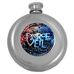 Pierce The Veil Quote Galaxy Nebula Round Hip Flask (5 oz)