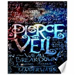 Pierce The Veil Quote Galaxy Nebula Canvas 16  x 20