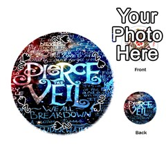 Pierce The Veil Quote Galaxy Nebula Playing Cards 54 (round)  by Onesevenart