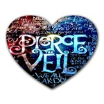 Pierce The Veil Quote Galaxy Nebula Heart Mousepads