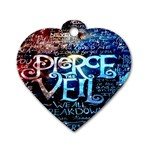 Pierce The Veil Quote Galaxy Nebula Dog Tag Heart (Two Sides)