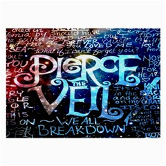 Pierce The Veil Quote Galaxy Nebula Large Glasses Cloth (2 Side) by Onesevenart