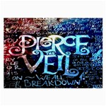 Pierce The Veil Quote Galaxy Nebula Large Glasses Cloth (2-Side)