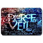 Pierce The Veil Quote Galaxy Nebula Large Doormat