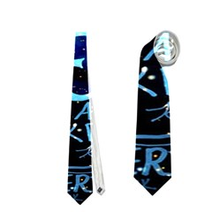 Pierce The Veil Quote Galaxy Nebula Neckties (two Side)  by Onesevenart