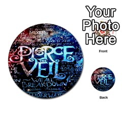 Pierce The Veil Quote Galaxy Nebula Multi Purpose Cards (round)  by Onesevenart