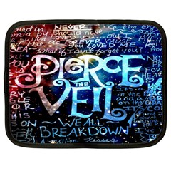 Pierce The Veil Quote Galaxy Nebula Netbook Case (large) by Onesevenart